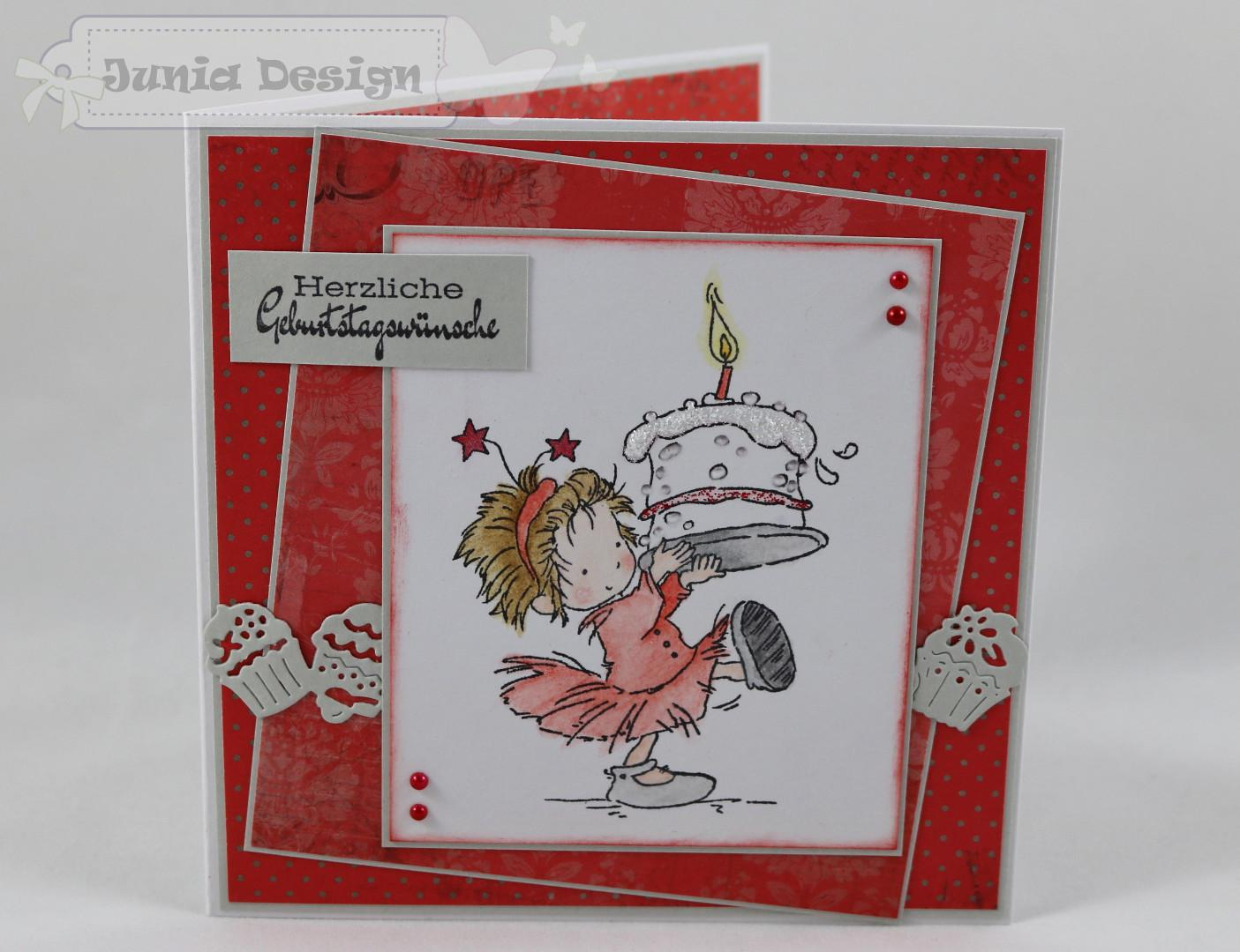 Geburtstagskarte Torte a