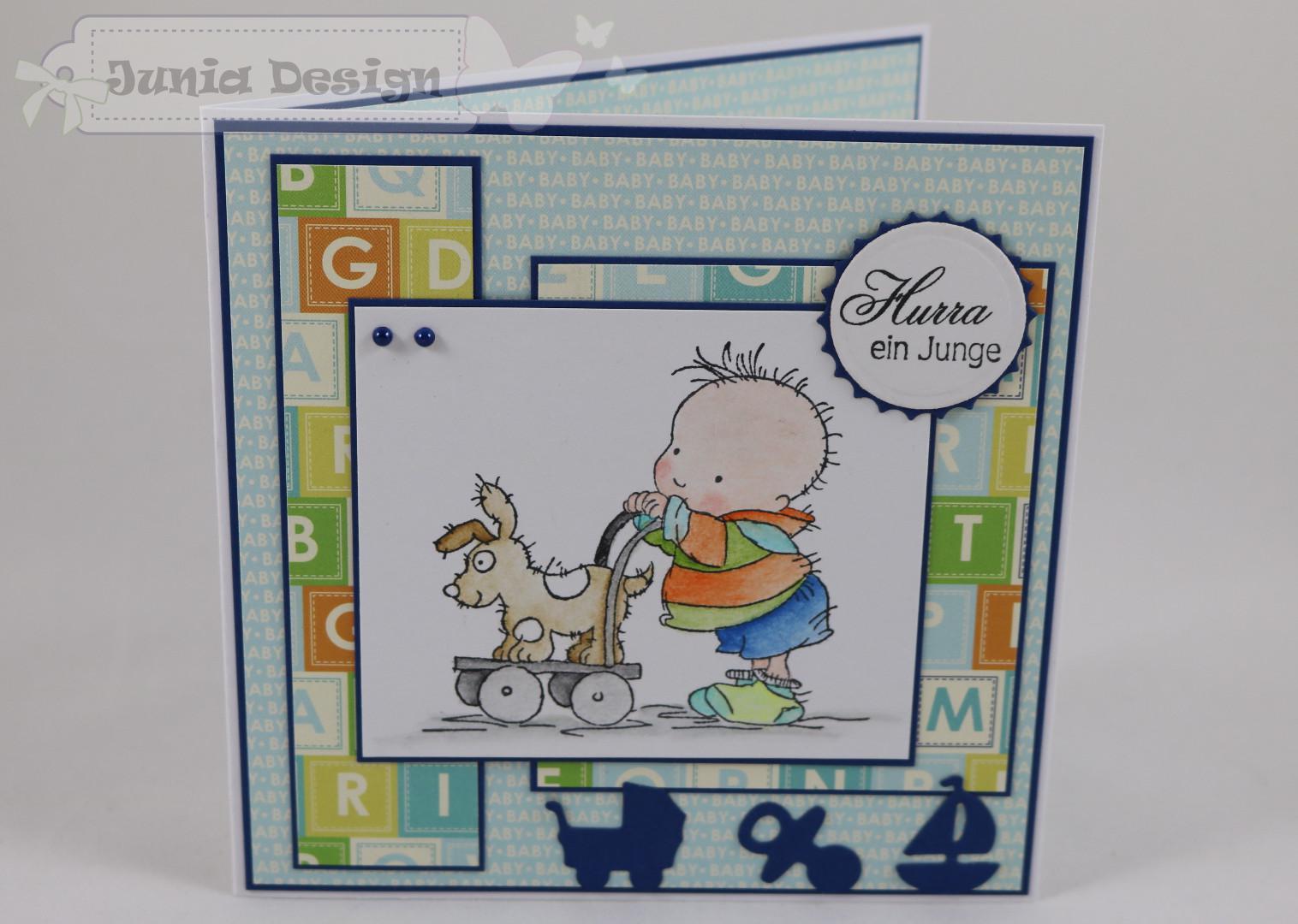 Briefumschlag Beschriften Zur Geburt : Junia design karten geburt taufe karte zur