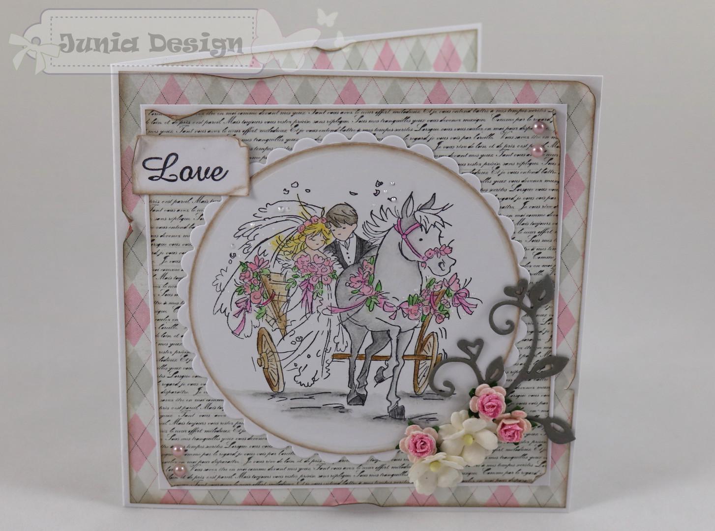 Hochzeitskarte LOVE a