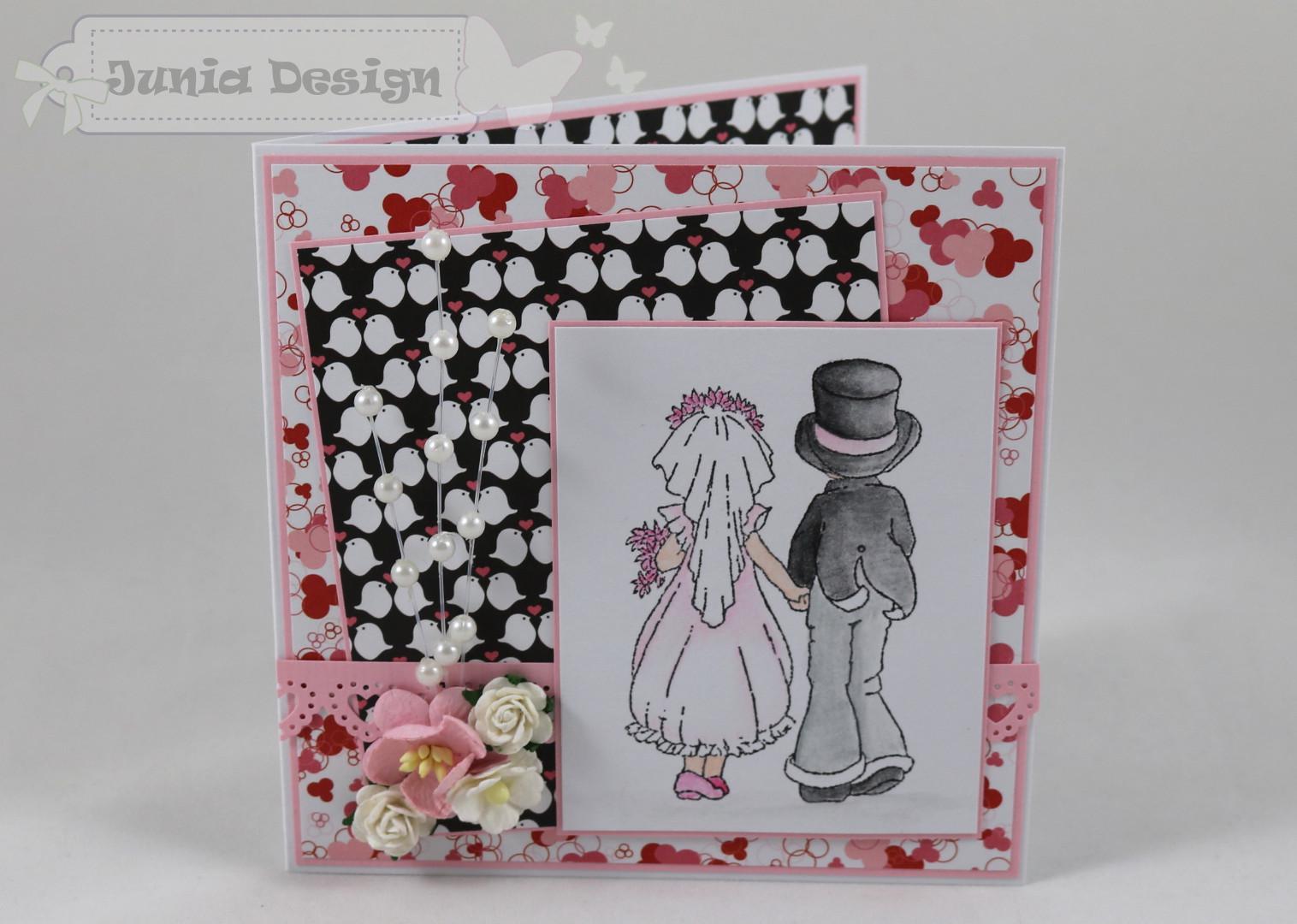 Hochzeitskarte Perlen a
