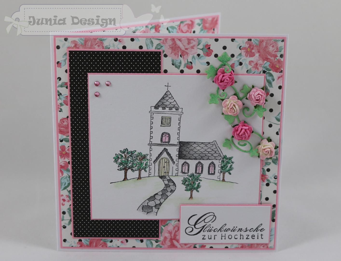 Hochzeitskarte Kirche a
