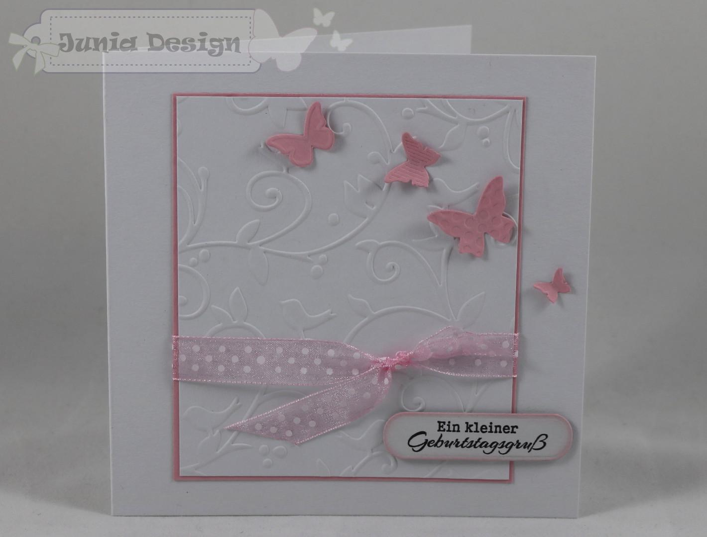 Geburtstagskarte Schmetterlinge a
