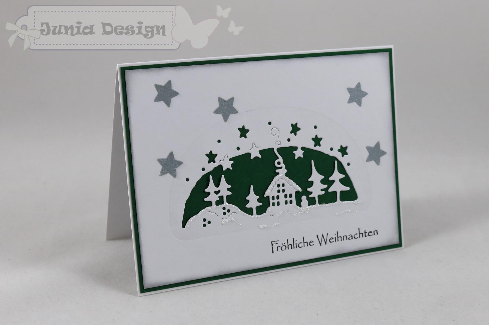 Weihnachtskarte grün a