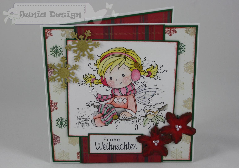 Weihnachtskarte Elfe a