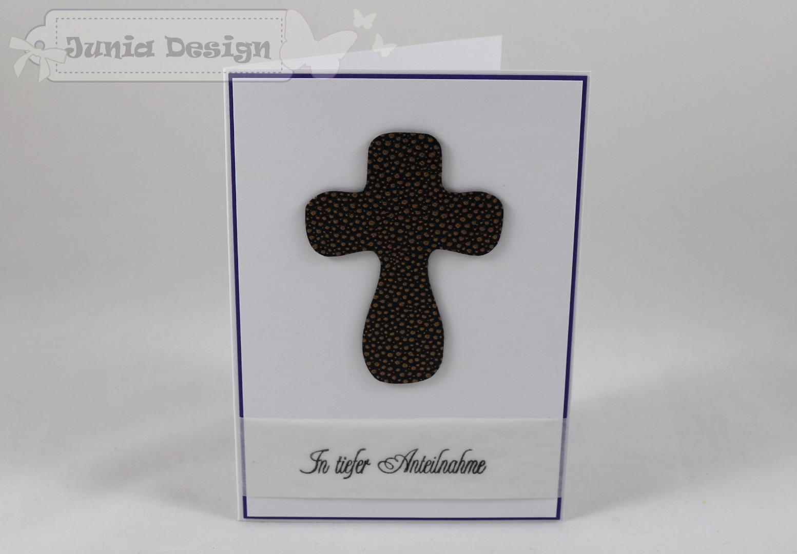 Trauer Karte Kreuz a