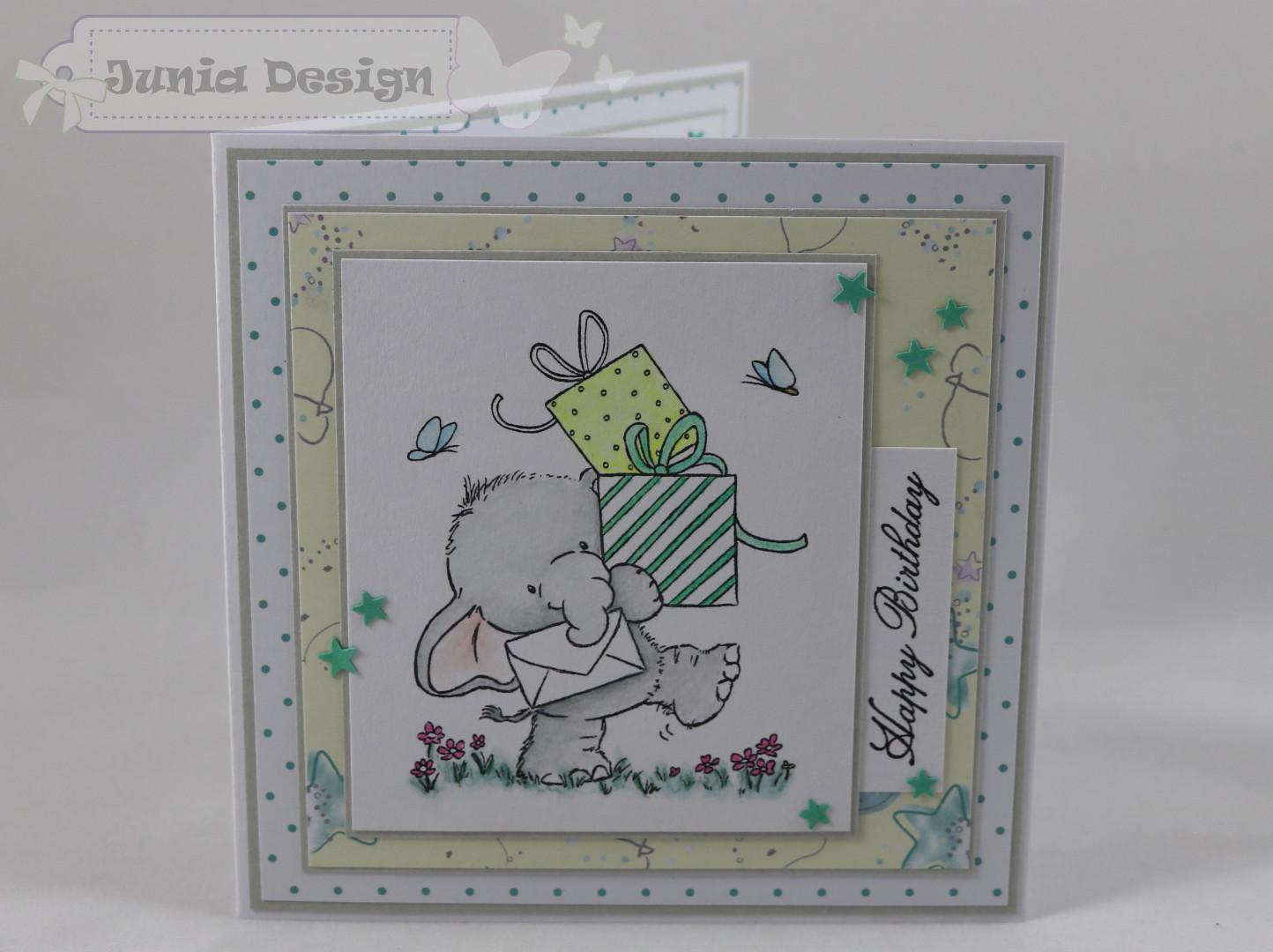 Geburtstagskarte Elefant a