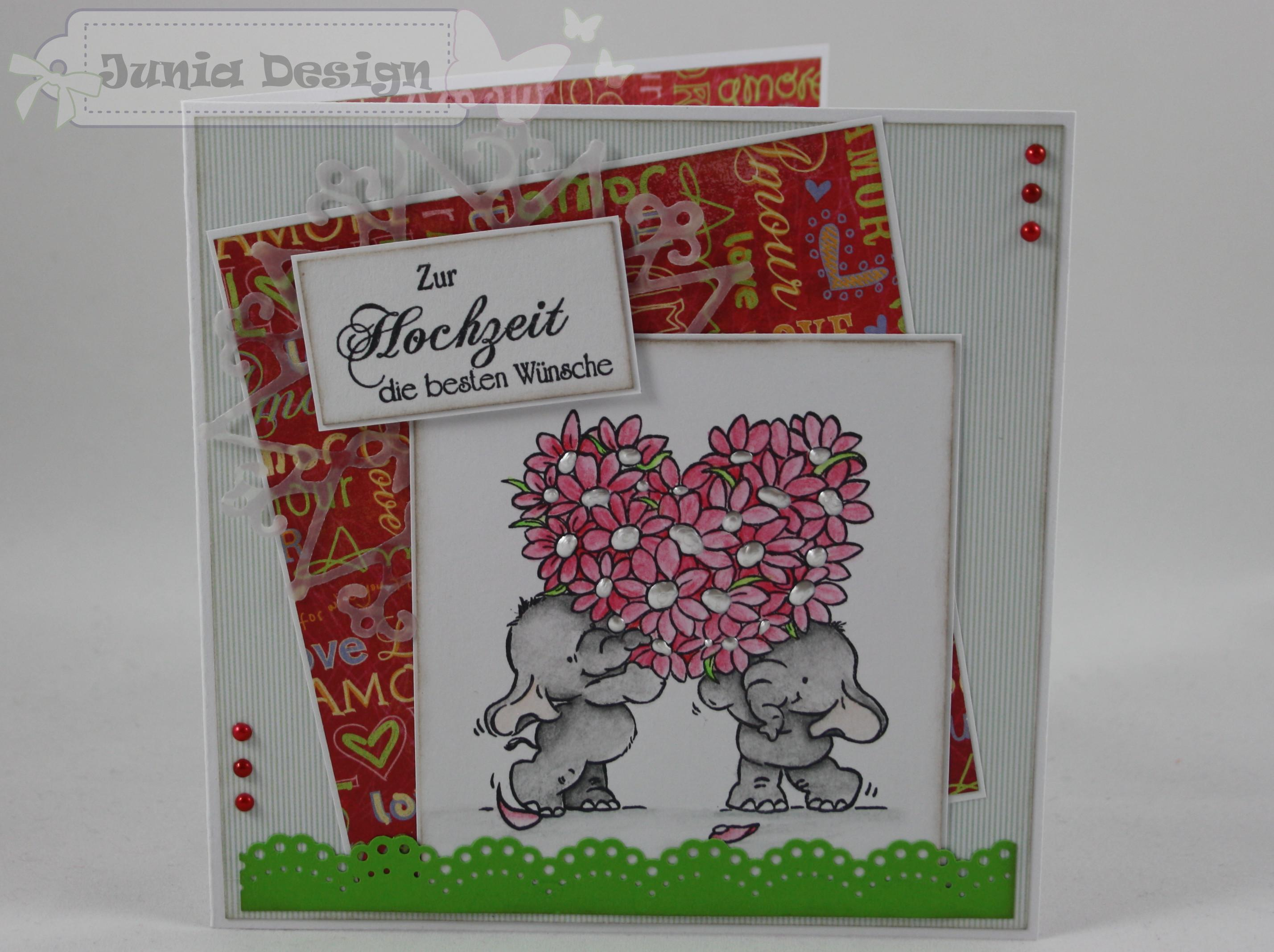 Hochzeitskarte Elefanten 1