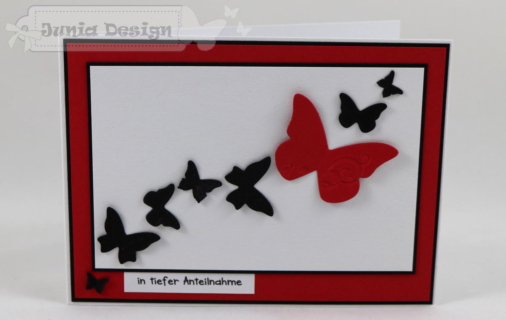 Trauer Karte Schmetterling a