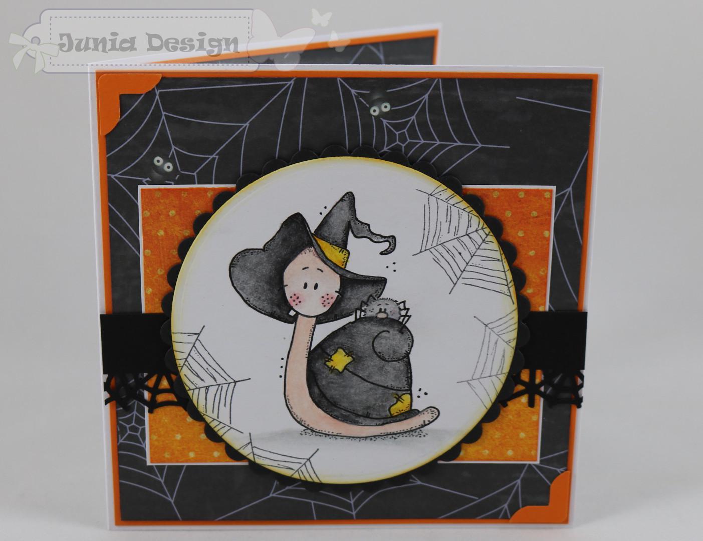 Halloween Karte Schnecke a