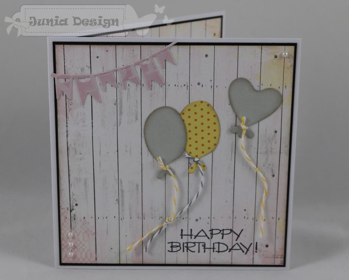 Geburtstagskarte Luftballons a