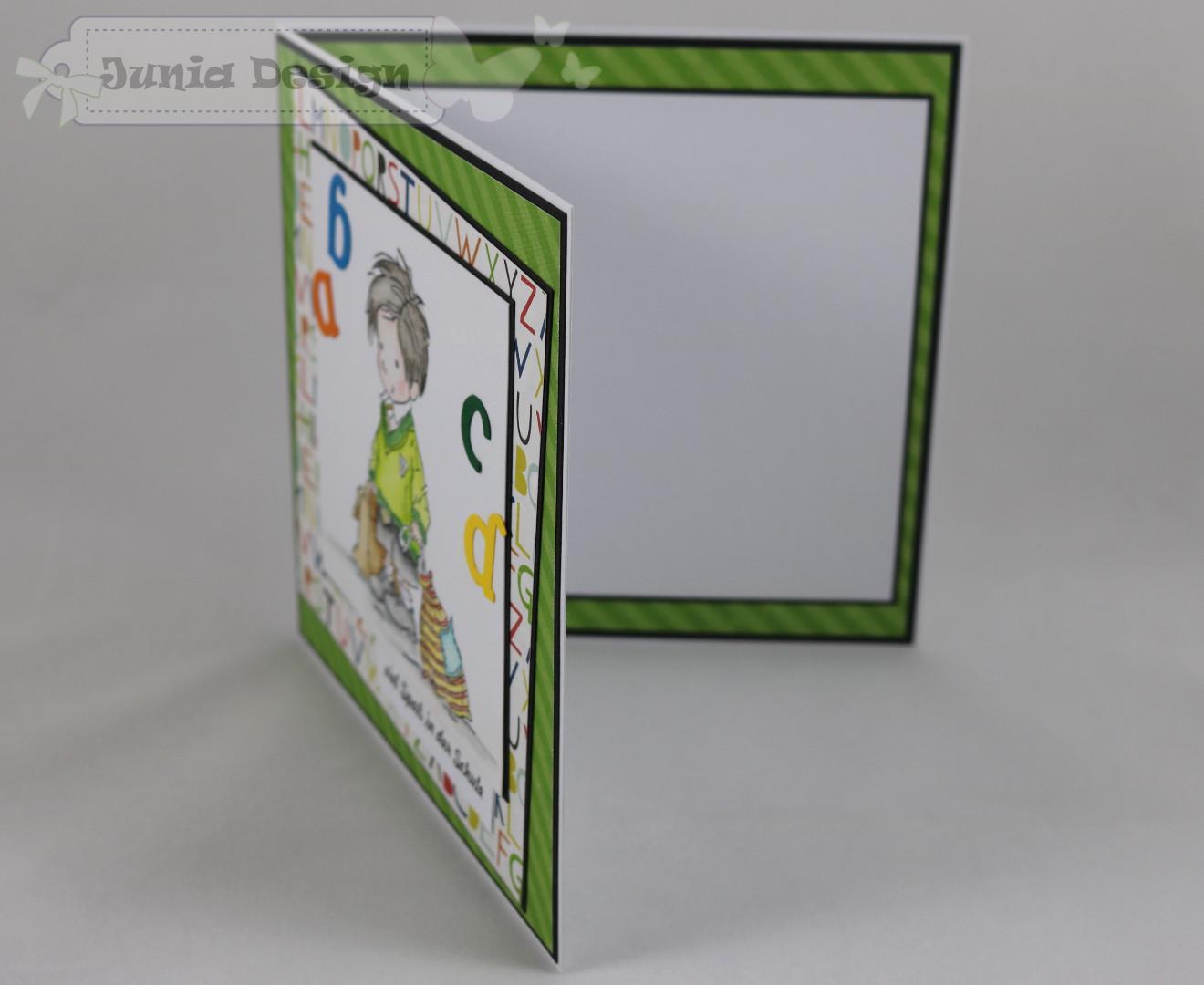 Karte Zur Einschulung.Junia Design Schulanfang Karte Zur Einschulung Buchstaben
