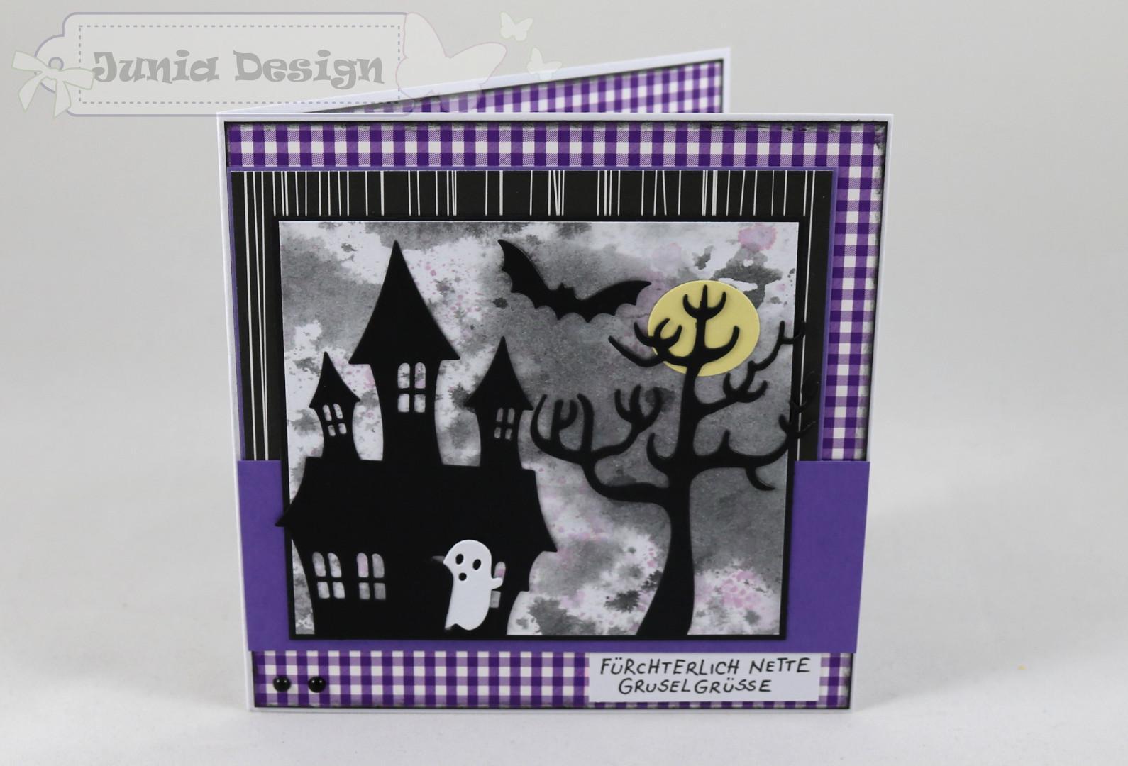 Halloweenkarte nette Gruselgrüße a