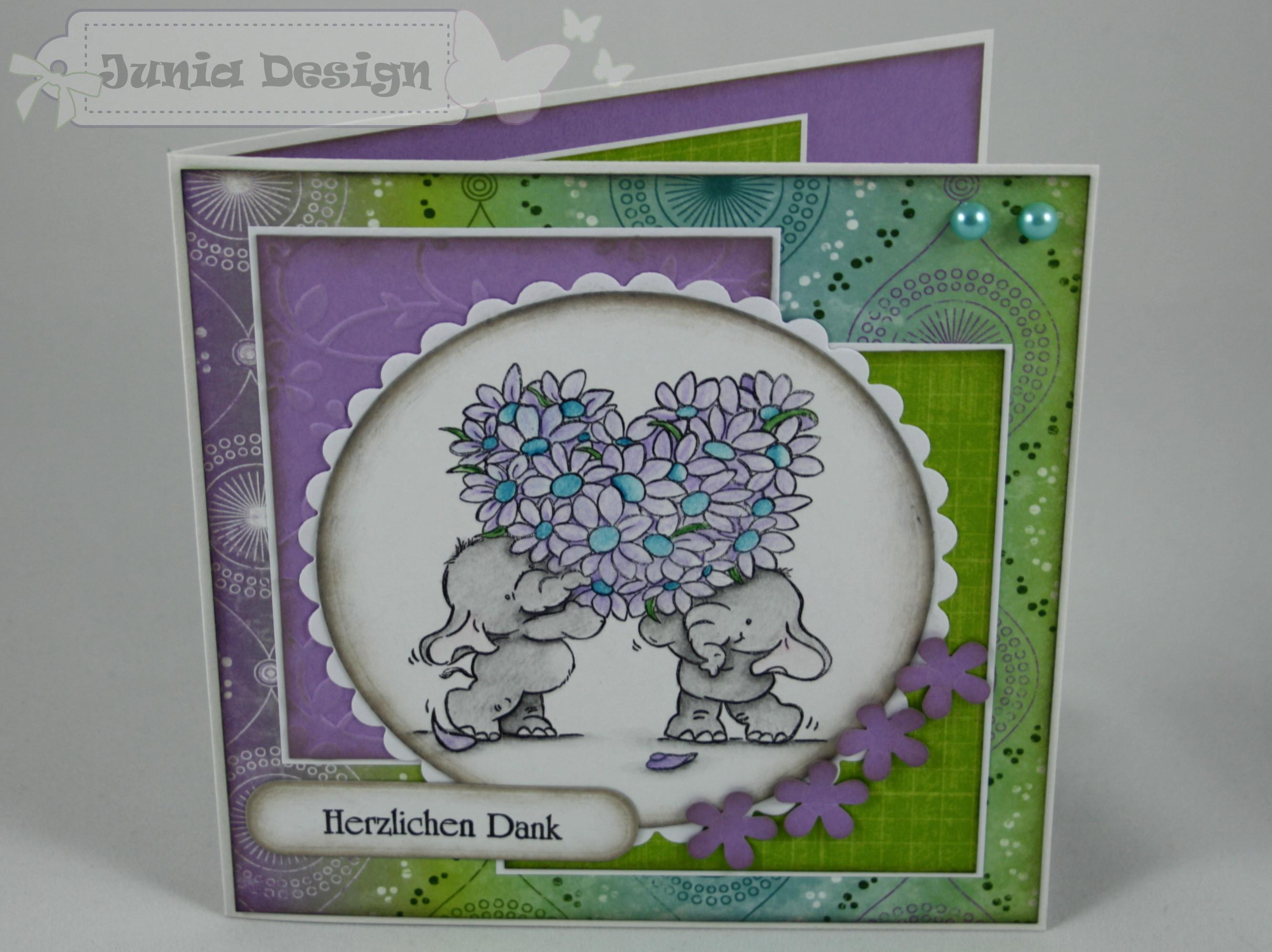 Danke Karte Elefanten 1