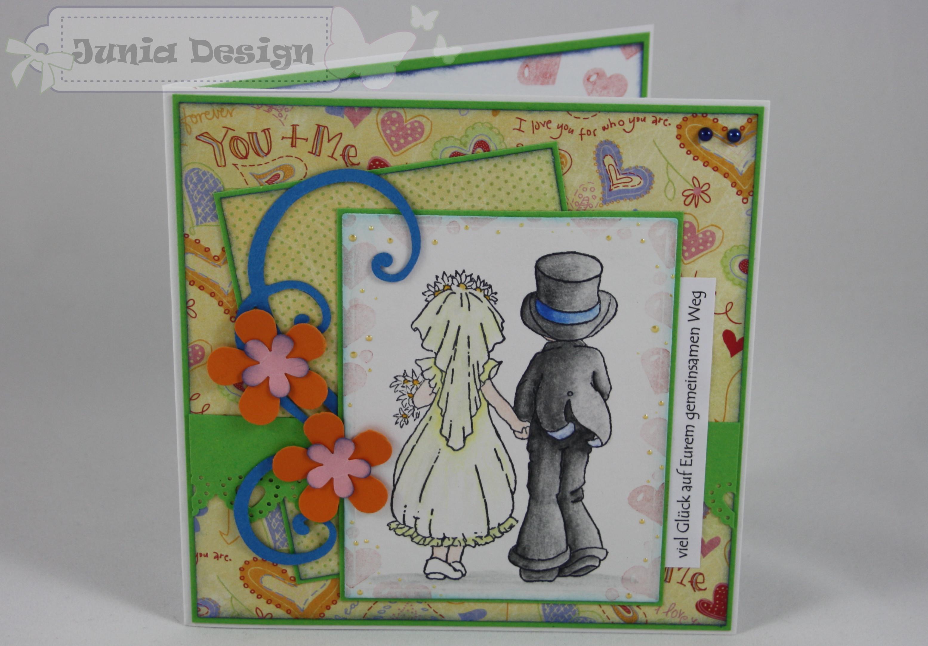 Hochzeitskarte Brautpaar 1