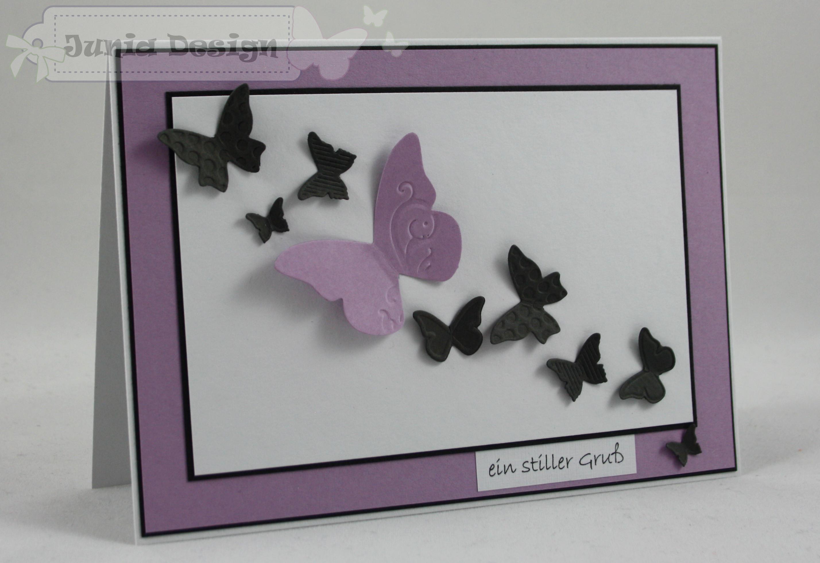 Trauer Karte Schmetterling 1