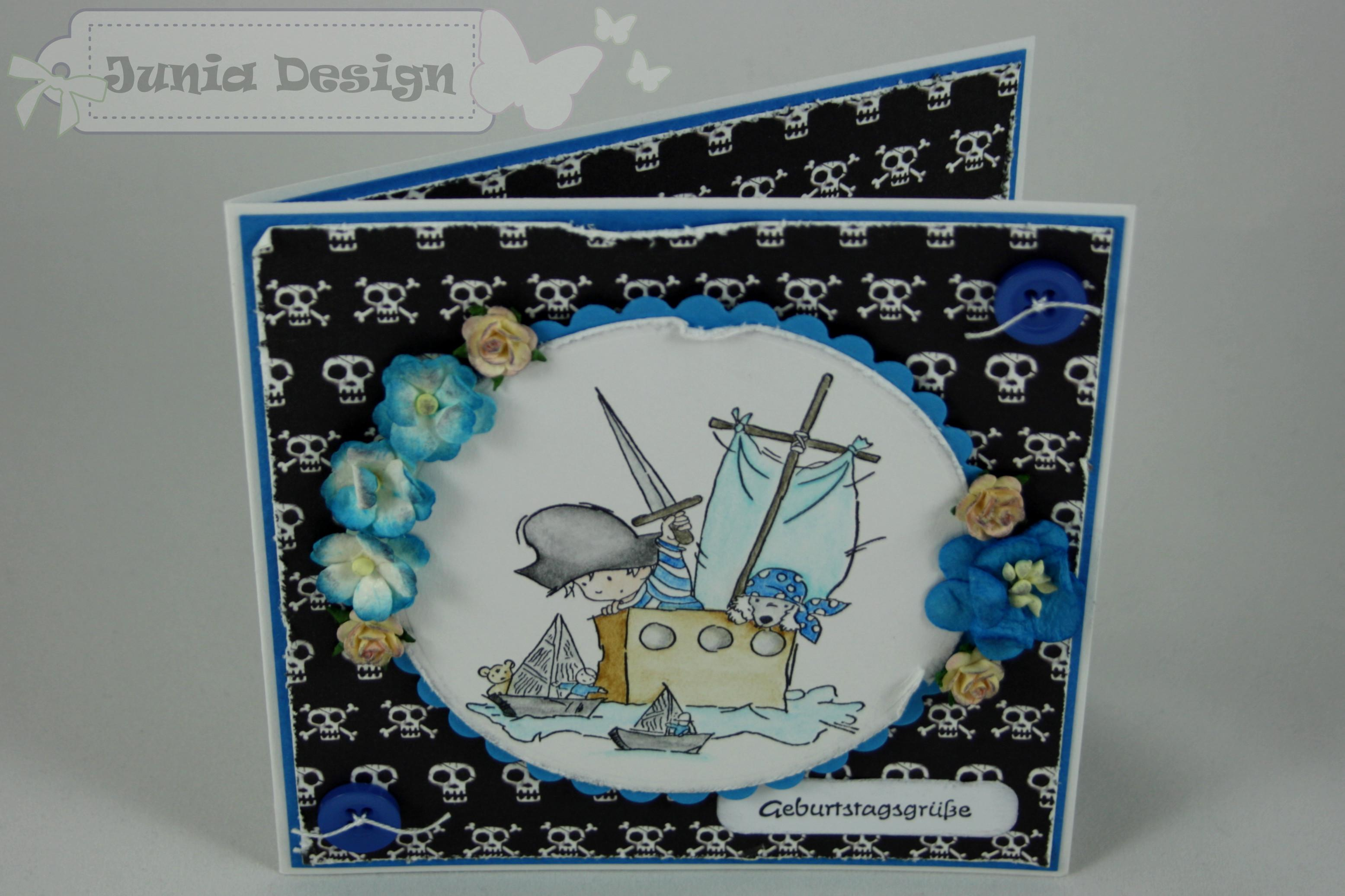 Geburtstagskarte Pirat 1