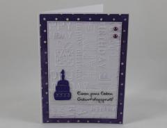 Artikelbild Geburtstagskarte kleine Torte