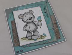 Geburtstagskarte Blumen-Bär c