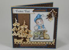 Artikelbild Weihnachtskarte braun/blau