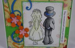Hochzeitskarte Brautpaar 2