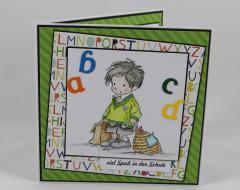 Artikelbild Karte zur Einschulung Buchstaben