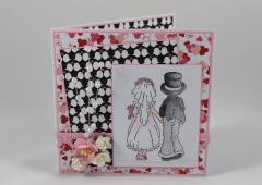 Artikelbild Hochzeitskarte Perlen