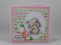 Artikelbild Osterkarte rosa/grün