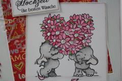 Hochzeitskarte Elefanten 2
