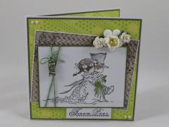 Artikelbild Hochzeitskarte grün/grau