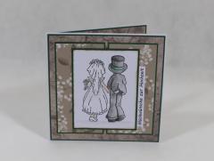 """Artikelbild Hochzeitskarte """"grün/braun"""""""
