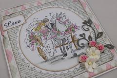 Hochzeitskarte LOVE b