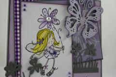 Frühlingskarte Mädchen b