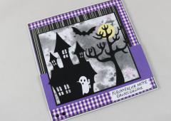 Halloweenkarte nette Gruselgrüße c