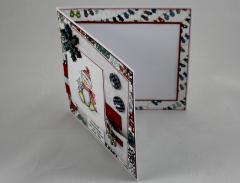 Weihnachtskarte Schneeflocken-Pinguin 3