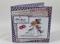 Artikelbild Hochzeitskarte lila/rot/grau