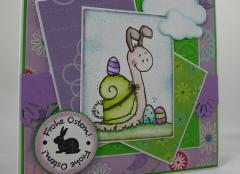 Osterkarte Schneckenhase 2