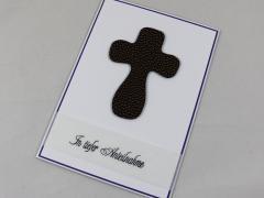 Trauer Karte Kreuz b