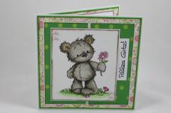 Artikelbild Grußkarte Bär mit Blume