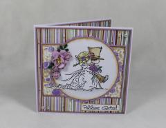 Artikelbild Hochzeitskarte lila/braun