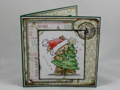 Artikelbild Weihnachtskarte Bär mit Baum