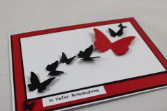 Trauer Karte Schmetterling b