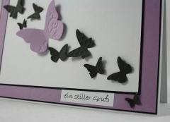 Trauer Karte Schmetterling 2