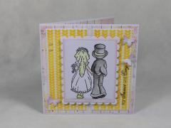 Artikelbild Hochzeitskarte gelb