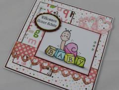 Babykarte Schnecke + Buchstaben b