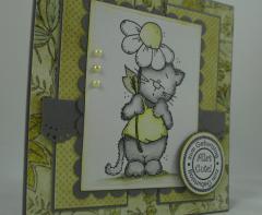 Geburtstagskarte Katze 2
