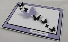 Trauer Karte Schmetterlinge lila b