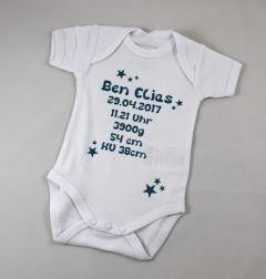 Artikelbild Body mit Babydaten