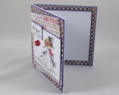 Hochzeitskarte lila/rot/grau b