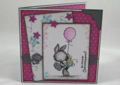 Artikelbild Geburtstagskarte rosa Ballon