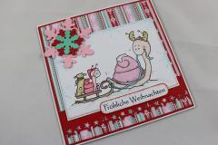 Weihnachtskarte zwei Schnecken b